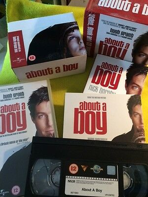 About A Boy  Paperback Book CD & Video Pack By Nick Hornby Boxed (Scuffed) • 12£