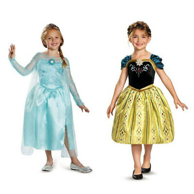 AU16.15 • Buy Girl Dress Princess Queen Elsa Anna Party Birthday Costume Size 2-6 Years