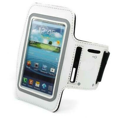 $12.52 • Buy WHITE ARMBAND SPORTS GYM WORKOUT COVER CASE RUNNING ARM Q7C For SMARTPHONES