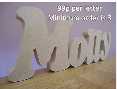£0.99 • Buy Wooden Words/Letters Free Standing Personalised Names Wedding/Home/Gift
