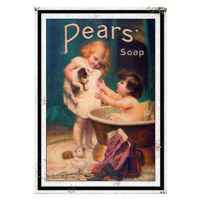 Pears Soap Metal Wall Plaque Vintage Advertising Sign Garage Shed Classic  • 5.99£