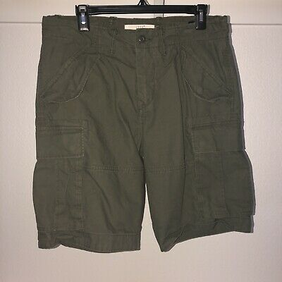 Pre-Owned H&M Label Of Graded Goods Olive Green Cargo Shorts, 100% Cotton, Sz 32 • 5$
