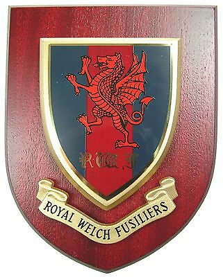 Royal Welch Fusiliers Classic Hand Made Regimental Mess Plaque • 19.99£