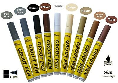 Grout Pen Revives & RestoresTile Grout Anti-Mould Avaliable In 9 Colours  • 3.99£