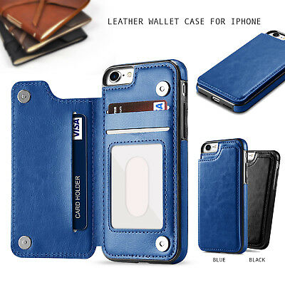 AU14.95 • Buy Leather Wallet Case Card Holder Cover For IPhone 11 Pro XS Max XR X 8 7 6 Plus