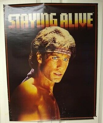 $ CDN30 • Buy Movie Posters: Staying Alive, John Travolta From Back In The Day, Good Condition