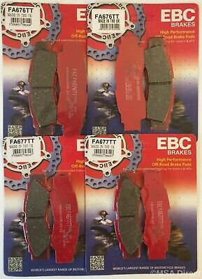 Yamaha YXZ1000R (2016 To 2018) EBC  TT  FRONT And REAR Disc Brake Pads (4 Sets) • 83.99£