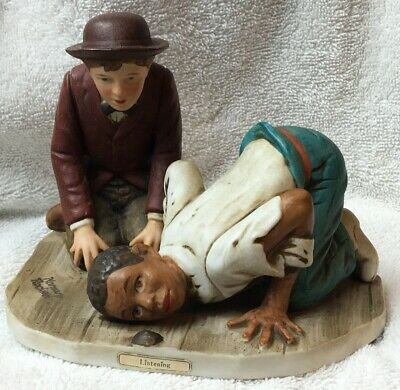 $ CDN22.07 • Buy Norman Rockwell Listening 1981 Dave Grossman Figurine Huckleberry Fin Adventures