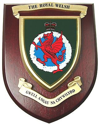 The Royal Welsh  Classic Hand Made Regimental Mess Plaque • 19.99£