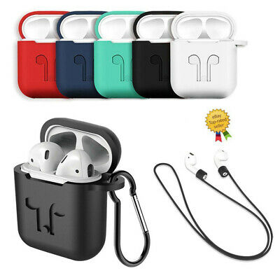 $ CDN2.73 • Buy Case Cover For Apple AirPods+ Case Strap Silicone Protective Charging Skin Sport