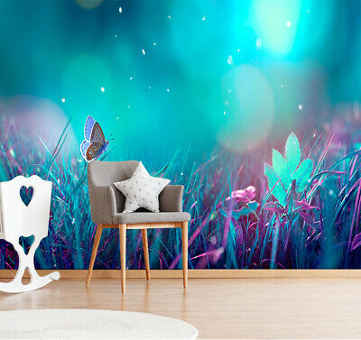 $17.99 • Buy 3D Butterfly In The Grass Self-adhesive Kid's Room Wallpaper Wall Murals Decor