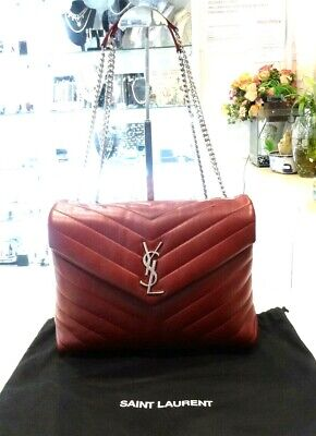 AU2299 • Buy YSL Saint Laurent Monogram Loulou Calfskin Y Quilted Monogram Medium Chain Bag