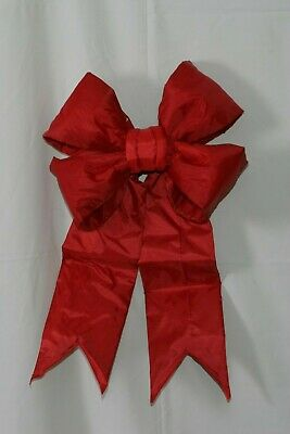 $35 • Buy 18  Red Indoor/Outdoor Commercial Christmas Structural Bow Decoration