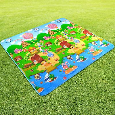 AU23.99 • Buy 2x1.8m Large Baby Kids Floor Play Mat Rug Picnic Cushion Crawling  Double Sides