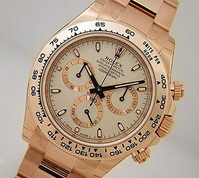 $ CDN55364.42 • Buy Rolex Cosmograph Daytona 116505 Everose Gold Oyster Ivory Index Dial 40mm Watch