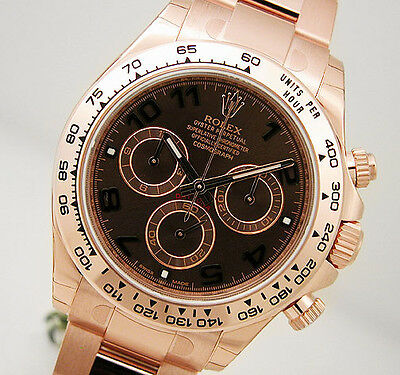 $ CDN51343.91 • Buy Rolex Cosmograph Daytona 116505 Everose Gold Oyster Chocolate Arabic Dial 40mm