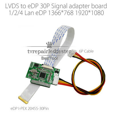 5V 30 Pin LVDS Turn To EDP Signal LCD Converter Controller Board For EDP Panel • 17.08$
