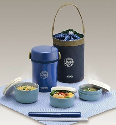 AU55.31 • Buy THERMOS Lunch Box Bento Food Container Navy Brand New