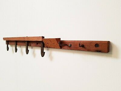 VINTAGE COAT / KITCHEN HOOK ANTIQUE 1920s • 35£