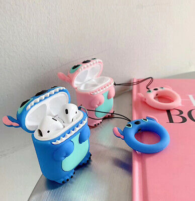 $ CDN5.18 • Buy For Apple AirPods 3D Stitch Headphone Silicon Case Protector Covers Keychain
