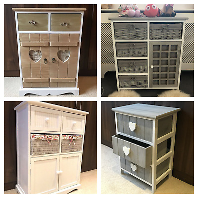 Storage Unit Chest Of Drawers Wicker Baskets Assembled Bedside Cabinet Bedroom • 79.95£
