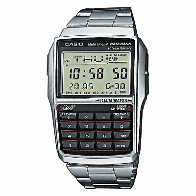 View Details Brand New Casio  Steel Databank Calculator Watch Dbc32d-1a **uk Seller** • 46.55£
