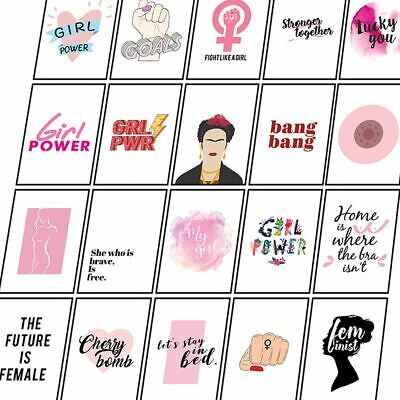 Feminist Posters Female Empowered Prints Inspirational Woman Wall Art Quotes • 3.49£