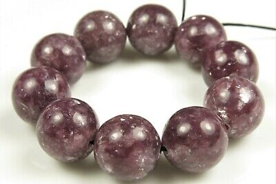 Natural Genuine Sparkling Purple Lepidolite Bead~ Close To 12mm~ 10 Beads~ 7297A • 17.02$