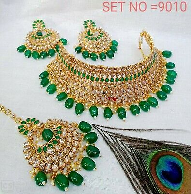 $49.99 • Buy Bollywood Indian Bridal Party Wear Fashion Jewelry Necklace Earring Set