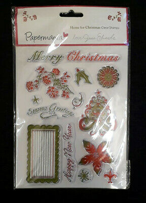 Papermania  Home For Christmas  Clear Stamps, Set Of 13 Stamps. • 4£