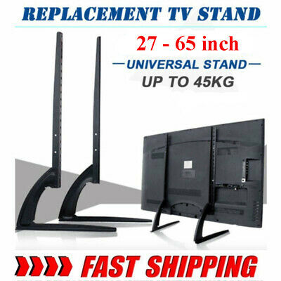Table Top TV Stand Base Mount For 22 -65  32 37 45 Height Adjustable Load 99Lbs • 18.49$