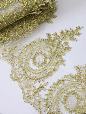 9 Designs! Corded GOLD Trim Bridal Gown Lace Edging Wedding Dress Veil Ribbon • 2.99£