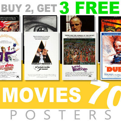 £3.99 • Buy Classic Movie Posters 1970s 70s Poster, A4, A3 270gsm Poster, Prints, Art, Film