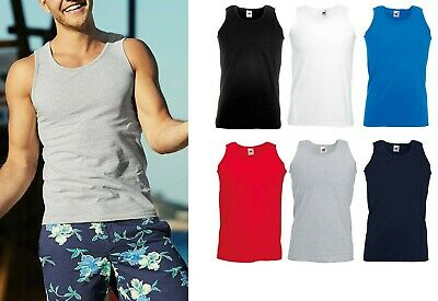 £12.29 • Buy 5 Pack Fruit Of The Loom Mens Plain Vests Athletic Tank Top Gym Sports T Shirt