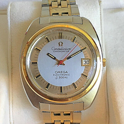 AU3028.24 • Buy Omega Constellation F300Hz Tuning Fork 1970s Rare Vintage Date 2-tone Mens Watch
