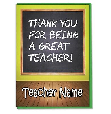 Personalised Thank You Card Teacher Teaching Assistant Head Master Mistress 02 • 3.49£