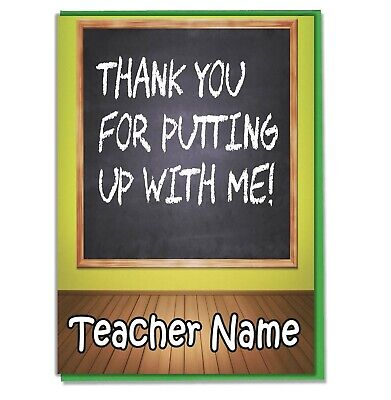 Personalised Thank You Card Teacher Teaching Assistant Head Master Mistress 03 • 3.49£