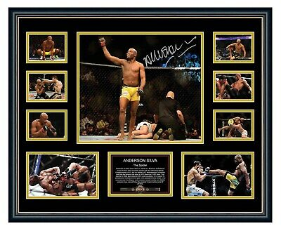AU94.99 • Buy Anderson Spider Silva Ufc Signed Limited Edition Framed Memorabilia