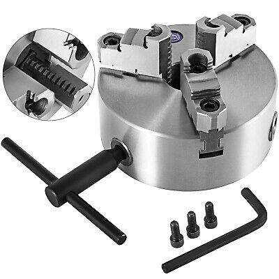 AU148.79 • Buy 3 Jaw Self Centering Mini Lathe Chuck 200mm 8 Inch + Independent Jaw, Key Handle