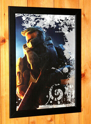 £29.03 • Buy Halo 2 3 4 Master Chief Rare Small Poster Advertising / Ad Page Framed Xbox 360
