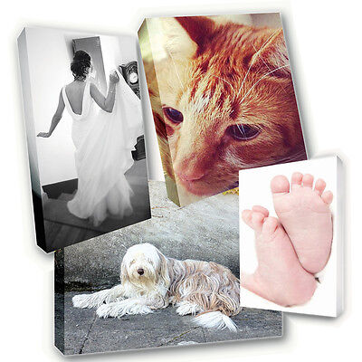 Personalised Canvas Print FREE DELIVERY Photo Picture Image Printed & Box Framed • 12.95£