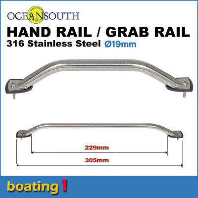 AU16.90 • Buy 316 STAINLESS STEEL 229mm SS MARINE HAND/GRAB RAIL - Boat/Yacht Handrail 19 Dia