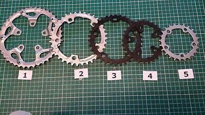BICYCLE CHAINRINGS 24T - 42T, 5 BOLTS, 74 Mm OR 110 Mm BCD, STEEL OR ALLOY • 26.99£