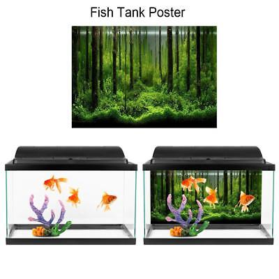 Adhesive Underwater Forest Tank Background Poster Decoration Backdrop • 6.08£