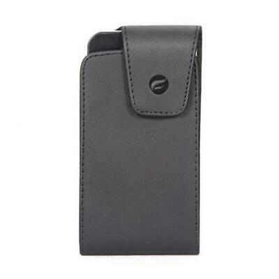 $11.27 • Buy BLACK LEATHER CASE COVER POUCH BELT HOLSTER SWIVEL CLIP Q0U For SMARTPHONES