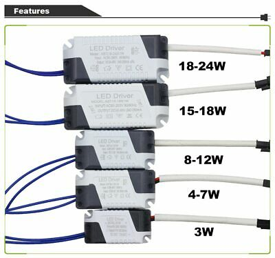 1-3W To 36W LED Driver 85 - 265V 300mA Power Transformer Constant Current Supply • 4.95£
