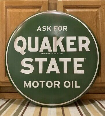 Quaker State Metal Sign Oil Can Gas Station Garage Vintage Style Auto Wall Decor • 85$