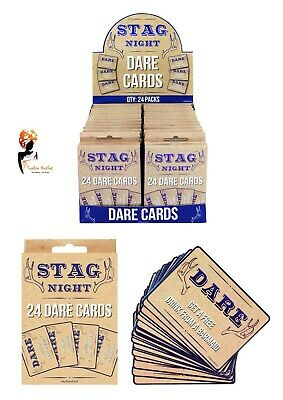 £3.42 • Buy 24 Stags DO PARTY DARE CARDS Stag Night OUT Blue ACCESSORIES NOVELTY CARDS Guys