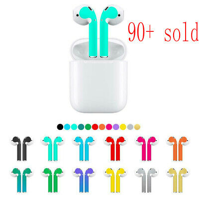 $ CDN2.37 • Buy Solid Color Skin Sticker For Apple Airpods AirPod Earphone Headsets Accessories
