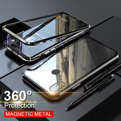 For Xiaomi Redmi 8 Note 8 7 Pro Magnetic Adsorption Tempered Glass PC Case Cover • 5.69$
